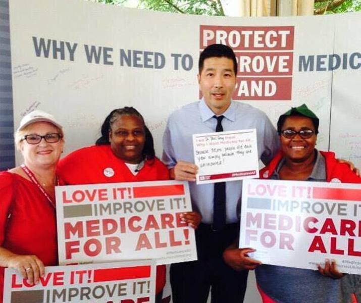 Paul supporting medicare and nurses